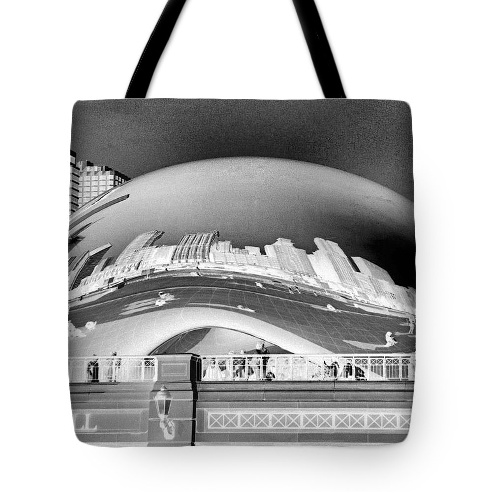 Bean Tote Bag featuring the photograph The Bean - 1 by Ely Arsha