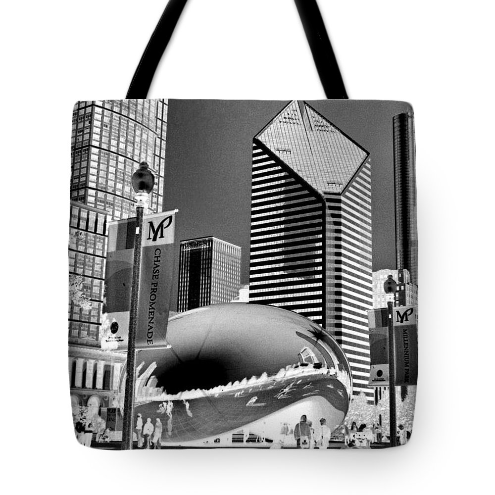 The Bean Tote Bag featuring the photograph The Bean - 2 by Ely Arsha