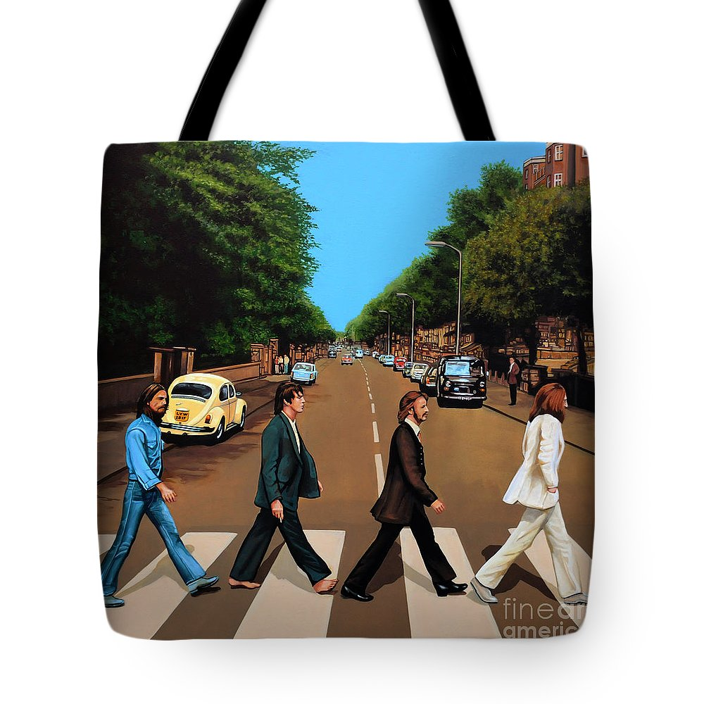 Rock And Roll Beatles Tote Bags