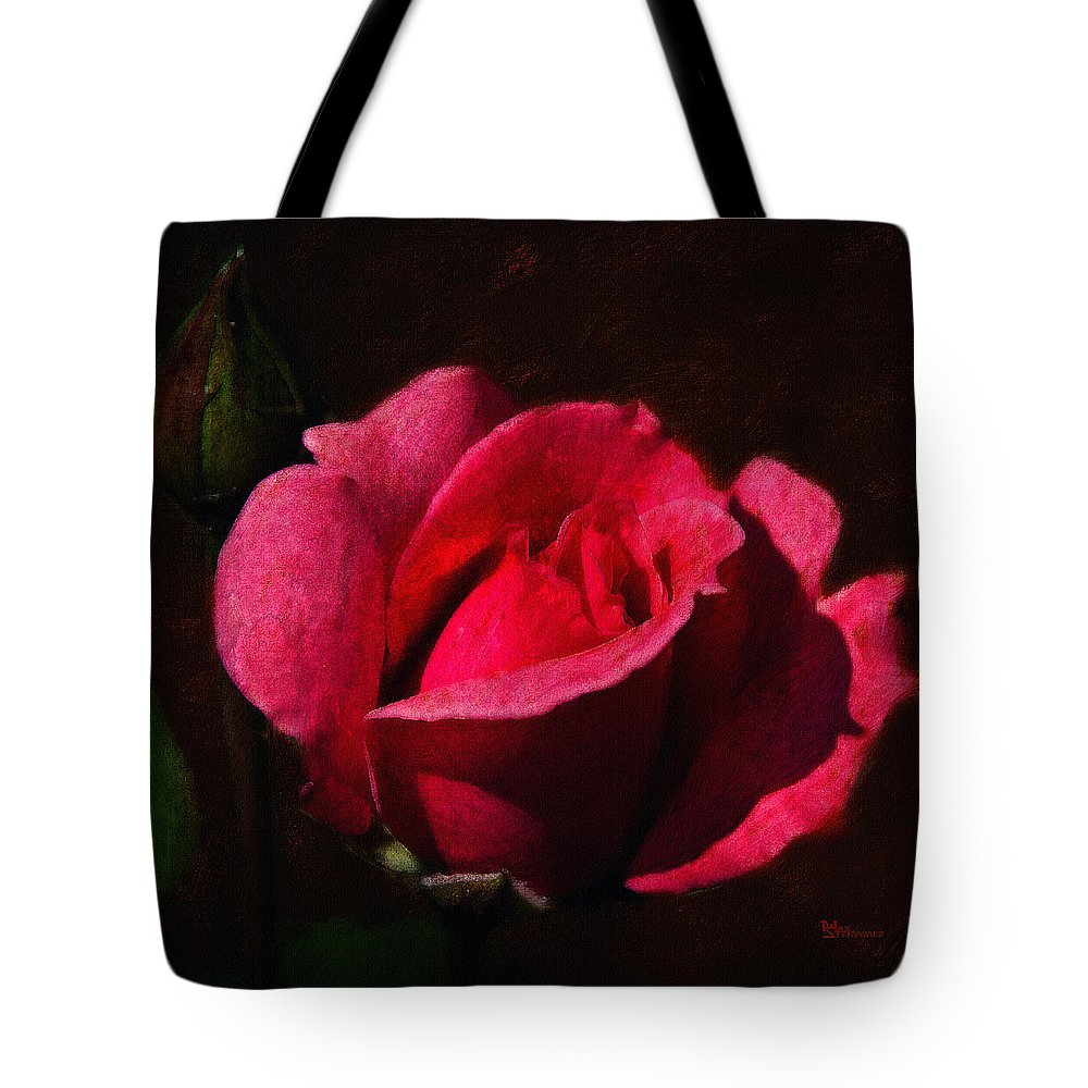 Rose Tote Bag featuring the digital art The Beauty In The Garden Of The Neighbor by Max Steinwald