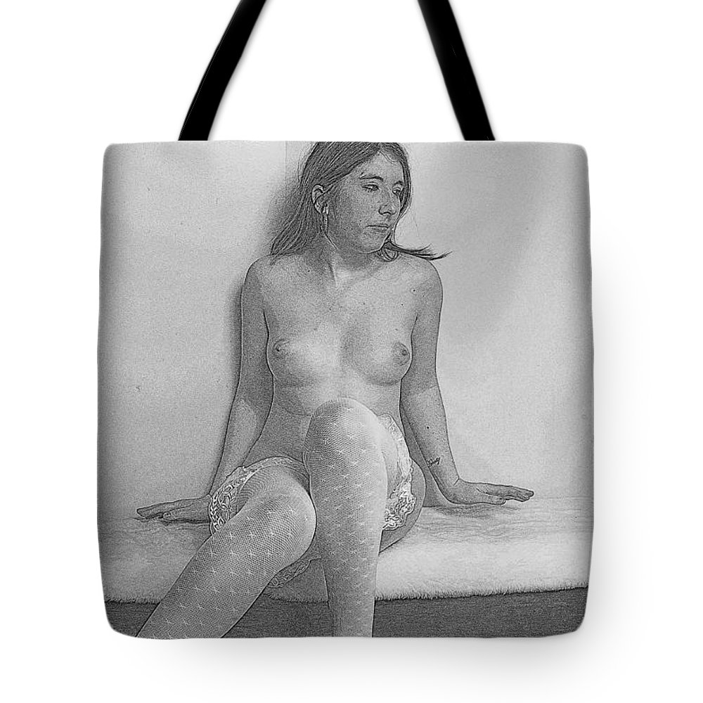 Model Tote Bag featuring the photograph The Bench by Ej Holley