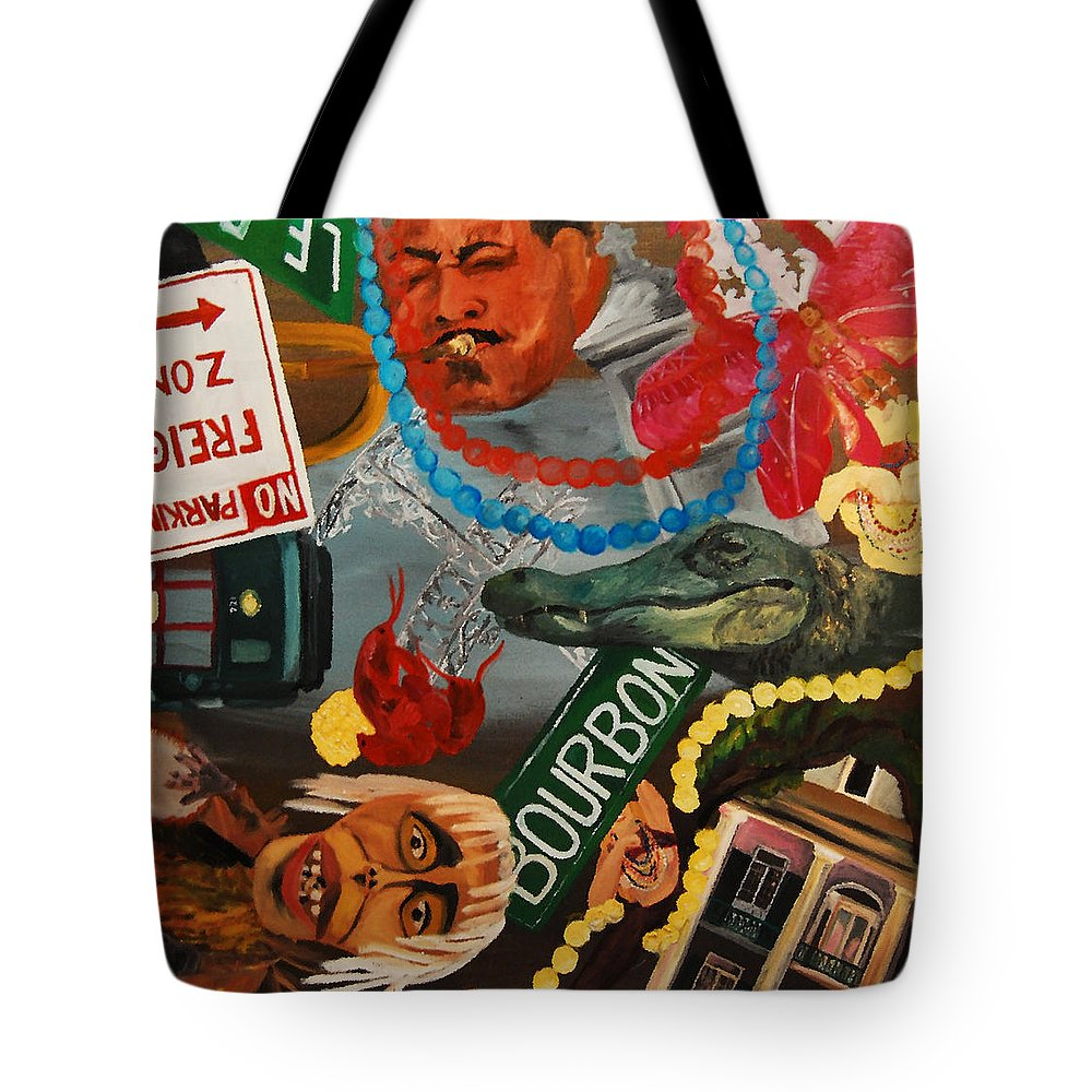 Louisiana Tote Bag featuring the painting The Big Easy by Lauren Luna