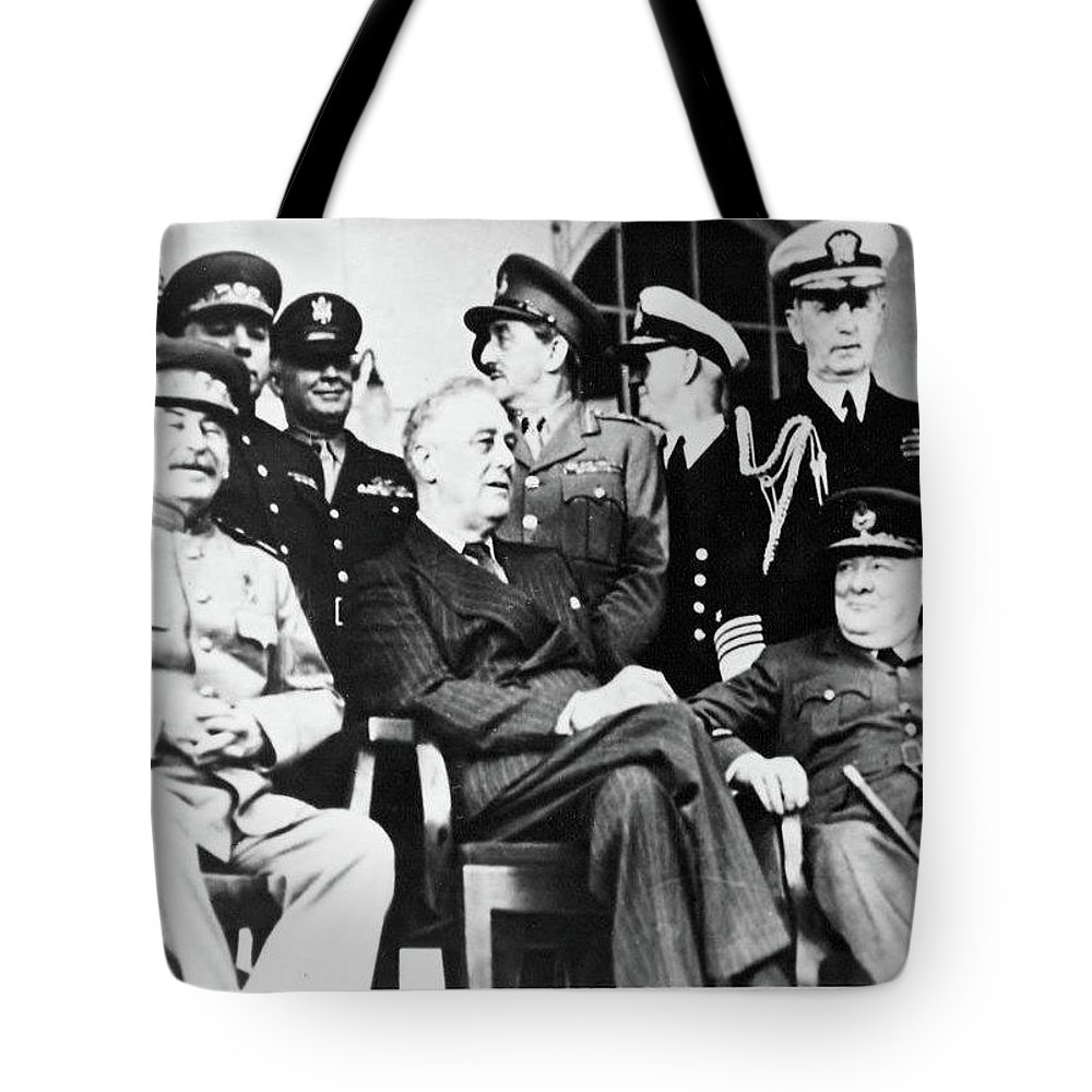 Churchill Tote Bag featuring the photograph The Big Three by Kathleen Barngrover