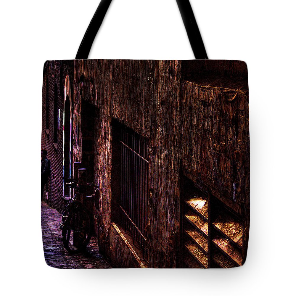 Bike Tote Bag featuring the photograph The Bike by David Patterson