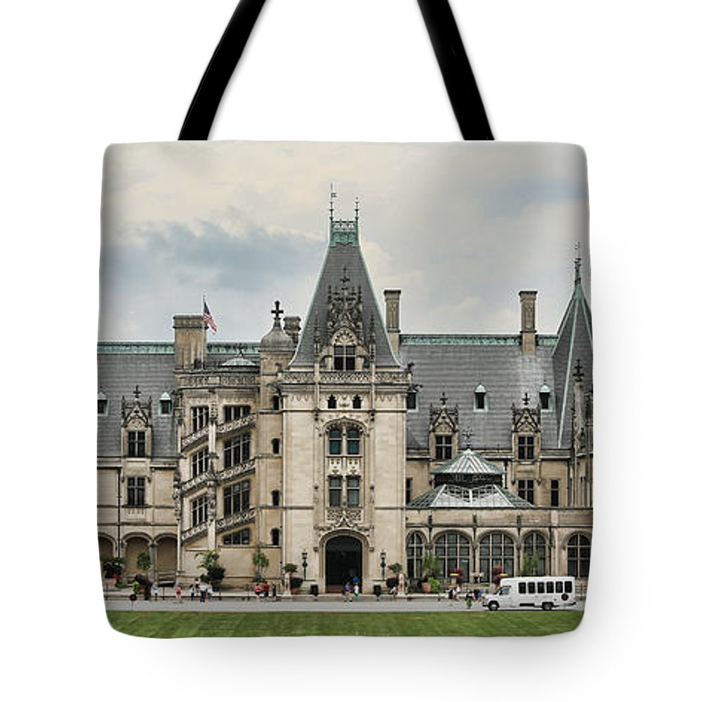 Biltmore Tote Bag featuring the photograph The Biltmore Estate by Stephen Stookey
