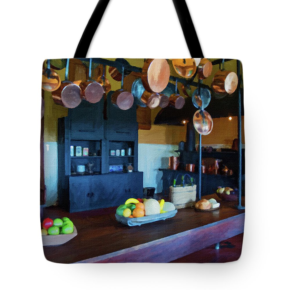 Biltmore Estate Tote Bag featuring the painting The Biltmore Kitchen by Michael Perlin