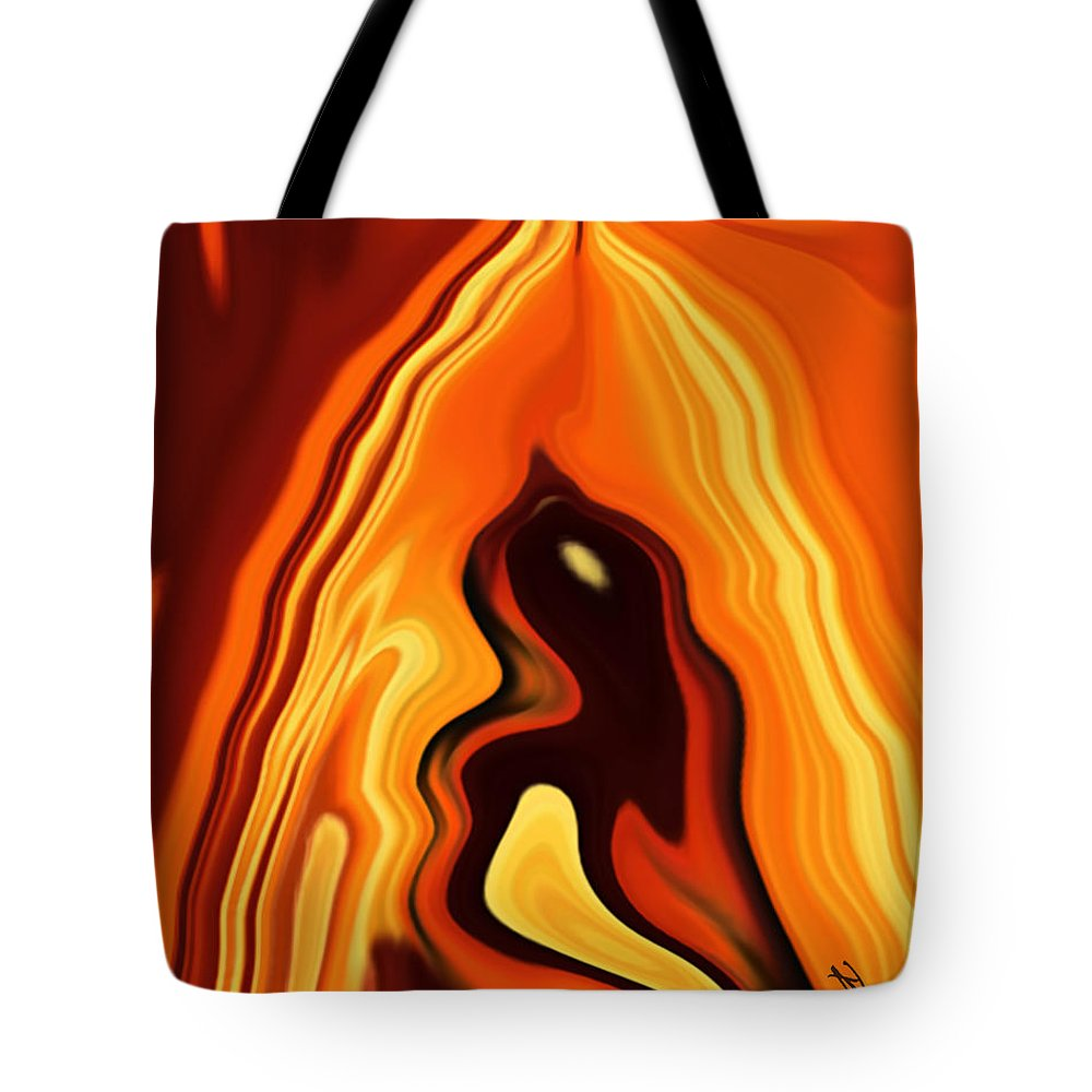 Art Tote Bag featuring the digital art The Bird In The Case by Rabi Khan