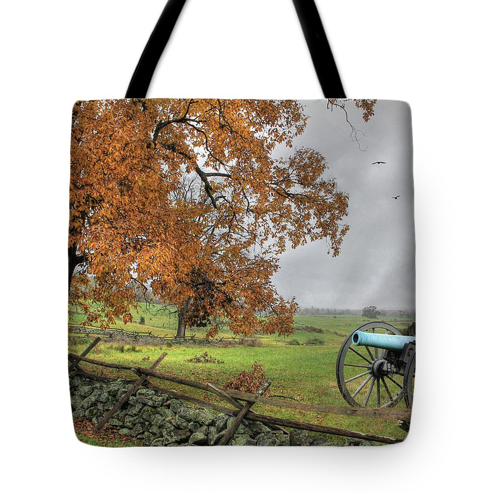 Gettysburg Tote Bag featuring the photograph The Birth Of Freedom by Lori Deiter