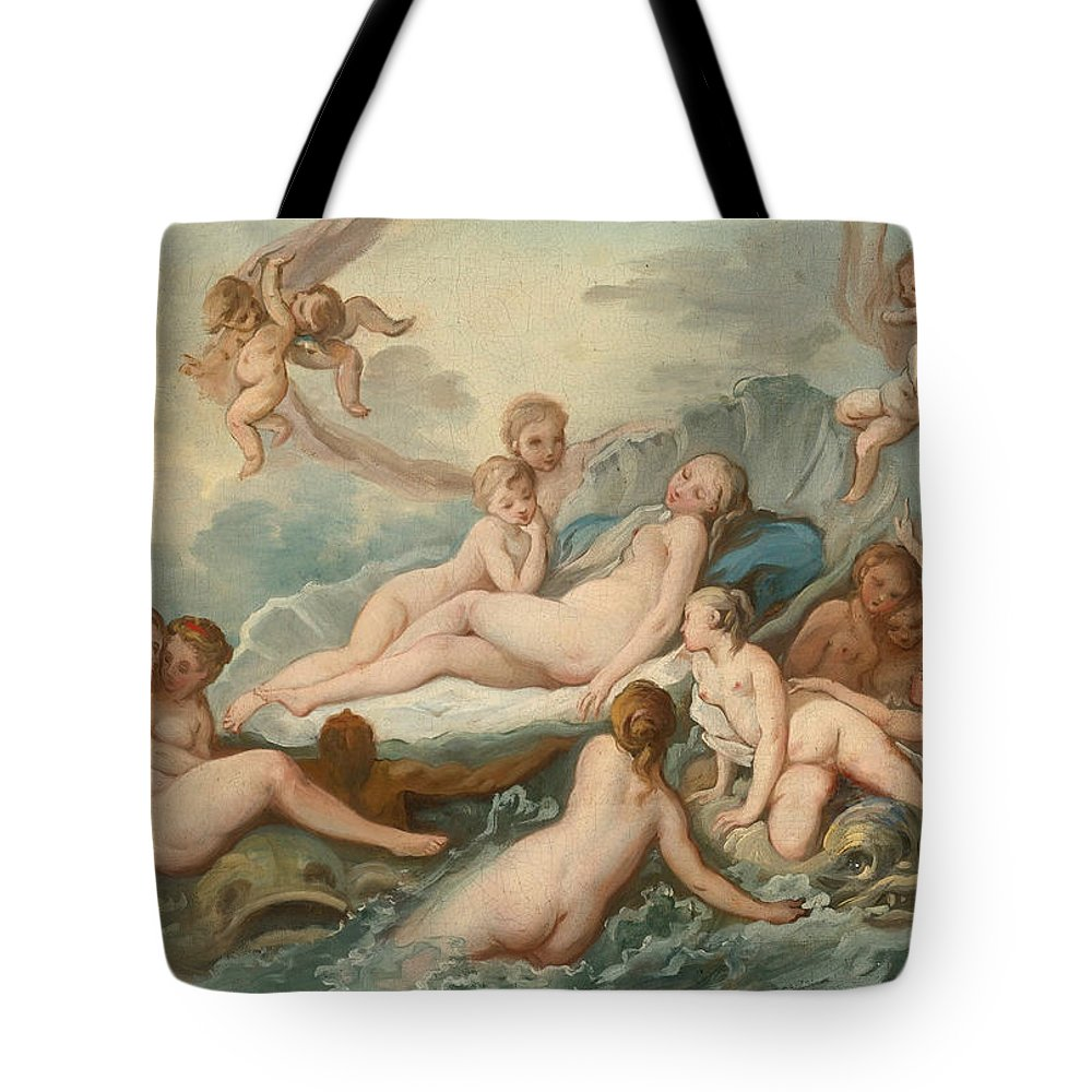 Attributed To Pierre Charles Tremolieres Tote Bag featuring the painting The Birth Of Venus by Attributed to Pierre Charles Tremolieres