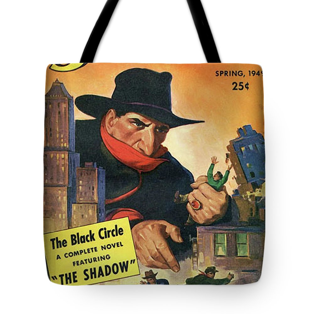 The Shadow Tote Bag featuring the painting The Shadow The Black Circle by Conde Nast