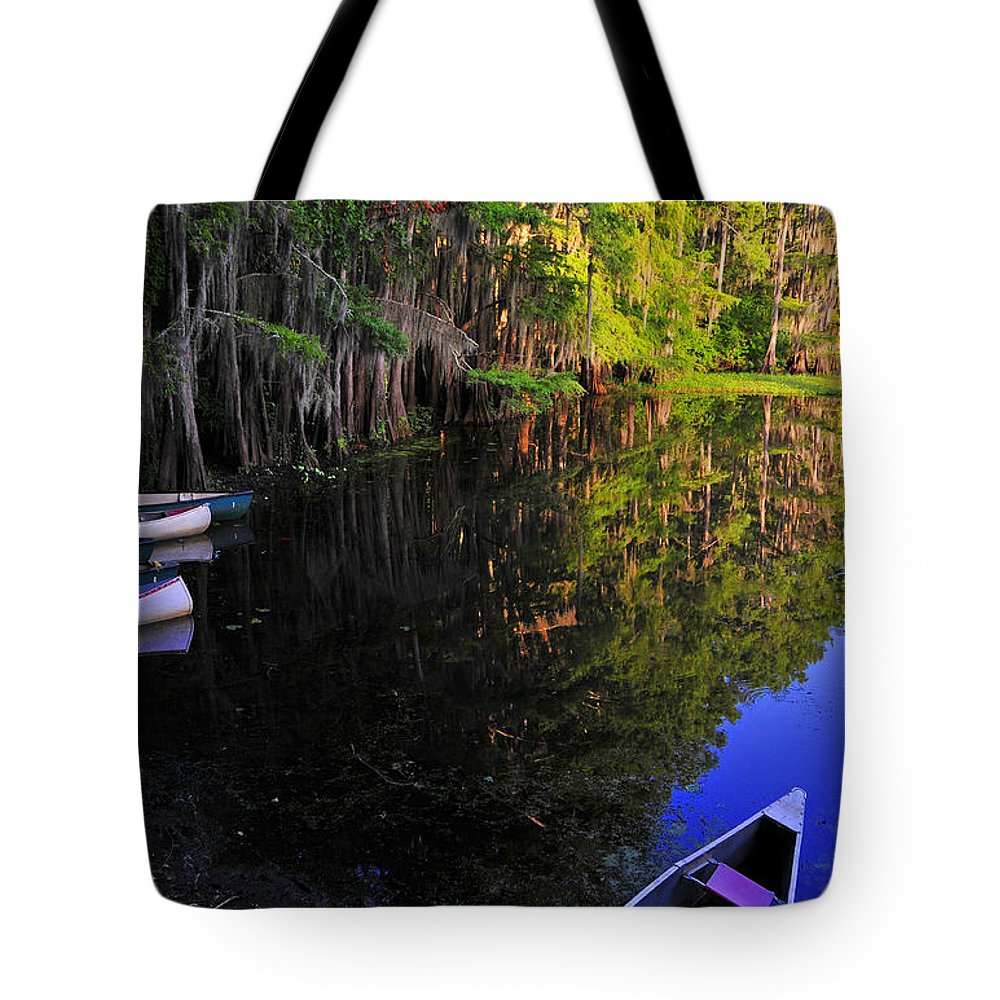 Skip Hunt Tote Bag featuring the photograph The Black Lagoon by Skip Hunt