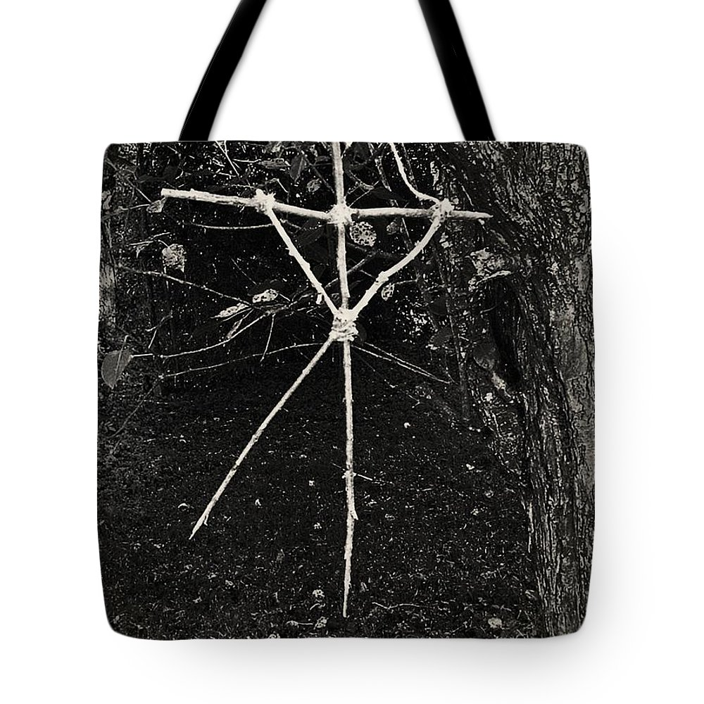 Magic Tote Bag featuring the photograph The Blair Witch by JoNeL Art