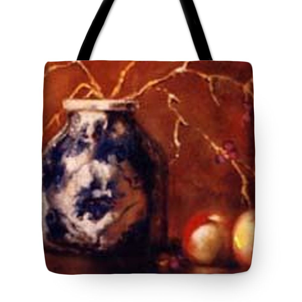 Tote Bag featuring the painting The Blue And White Vase by Jordana Sands