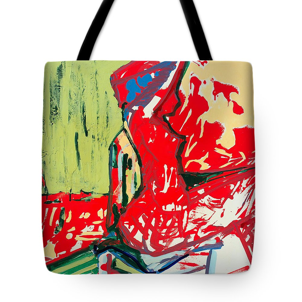 Woman Tote Bag featuring the painting The Blue Chair by Kurt Hausmann