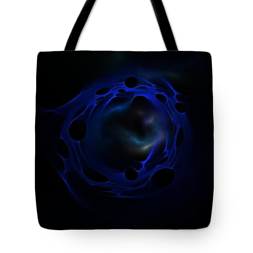 Fractal Tote Bag featuring the digital art The Blue Lagoo by Lyle Hatch