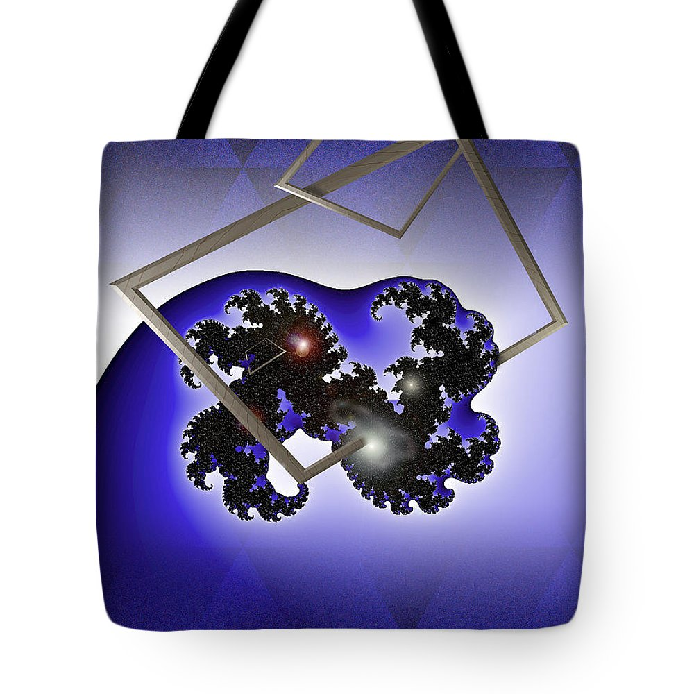 Digital Tote Bag featuring the photograph The Blue Wave by Doug Gibbons
