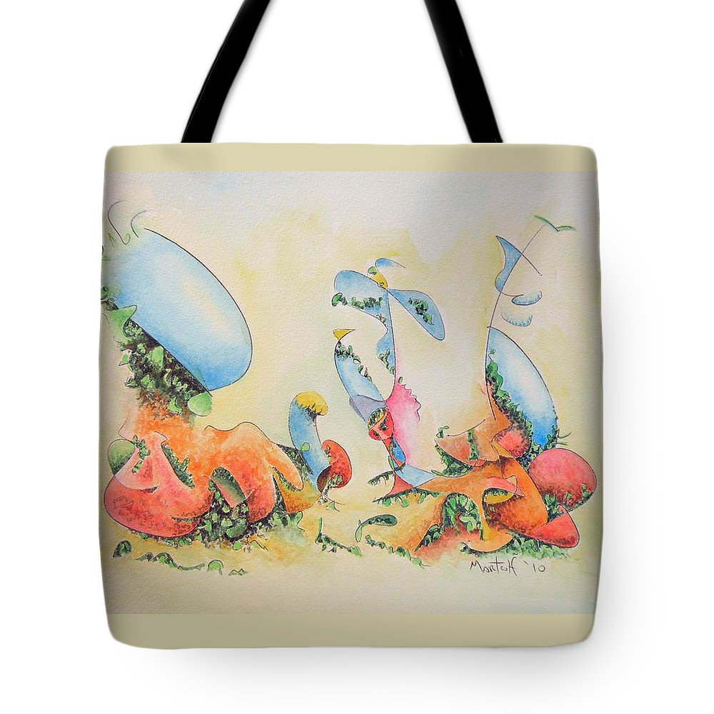 Martsolf Tote Bag featuring the painting The Blues by Dave Martsolf