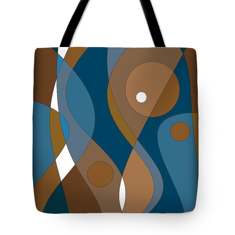 The Blues Tote Bag featuring the digital art The Blues by Val Arie