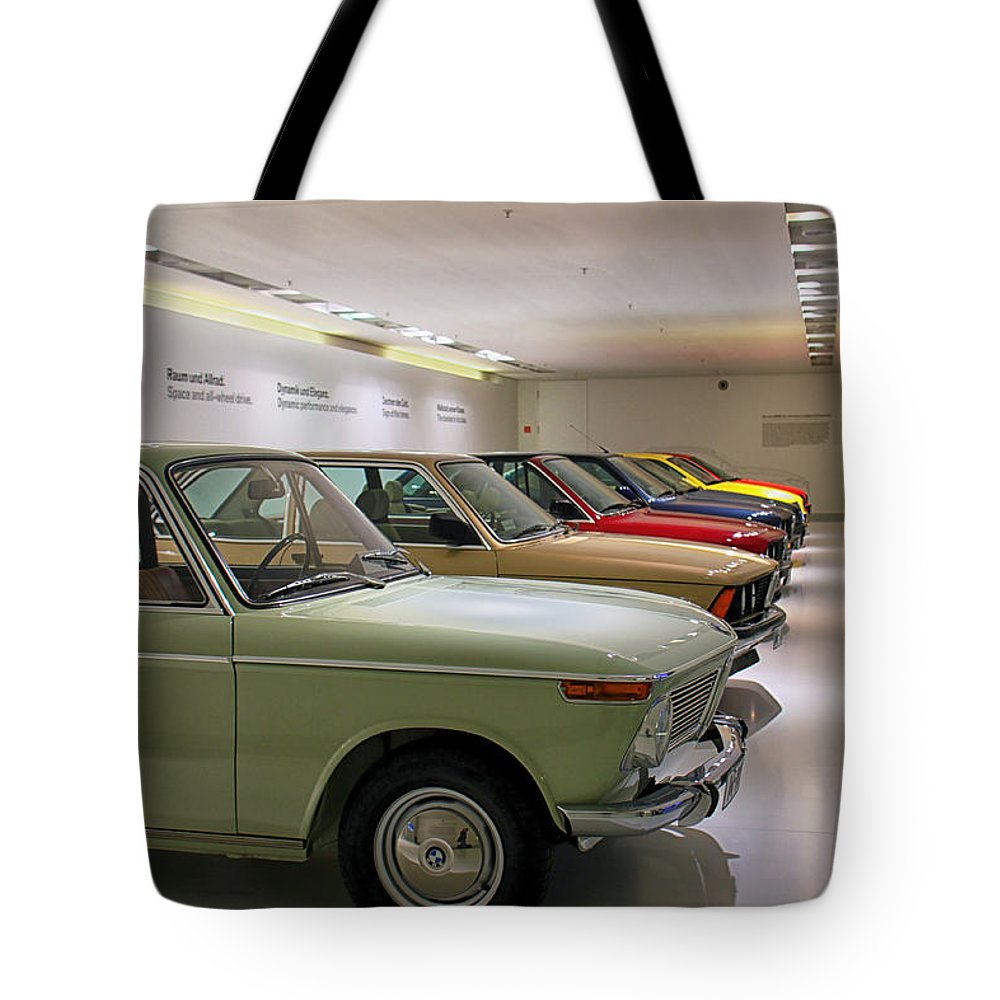 Bmw Tote Bag featuring the photograph The Bmw Line Up by Lauri Novak