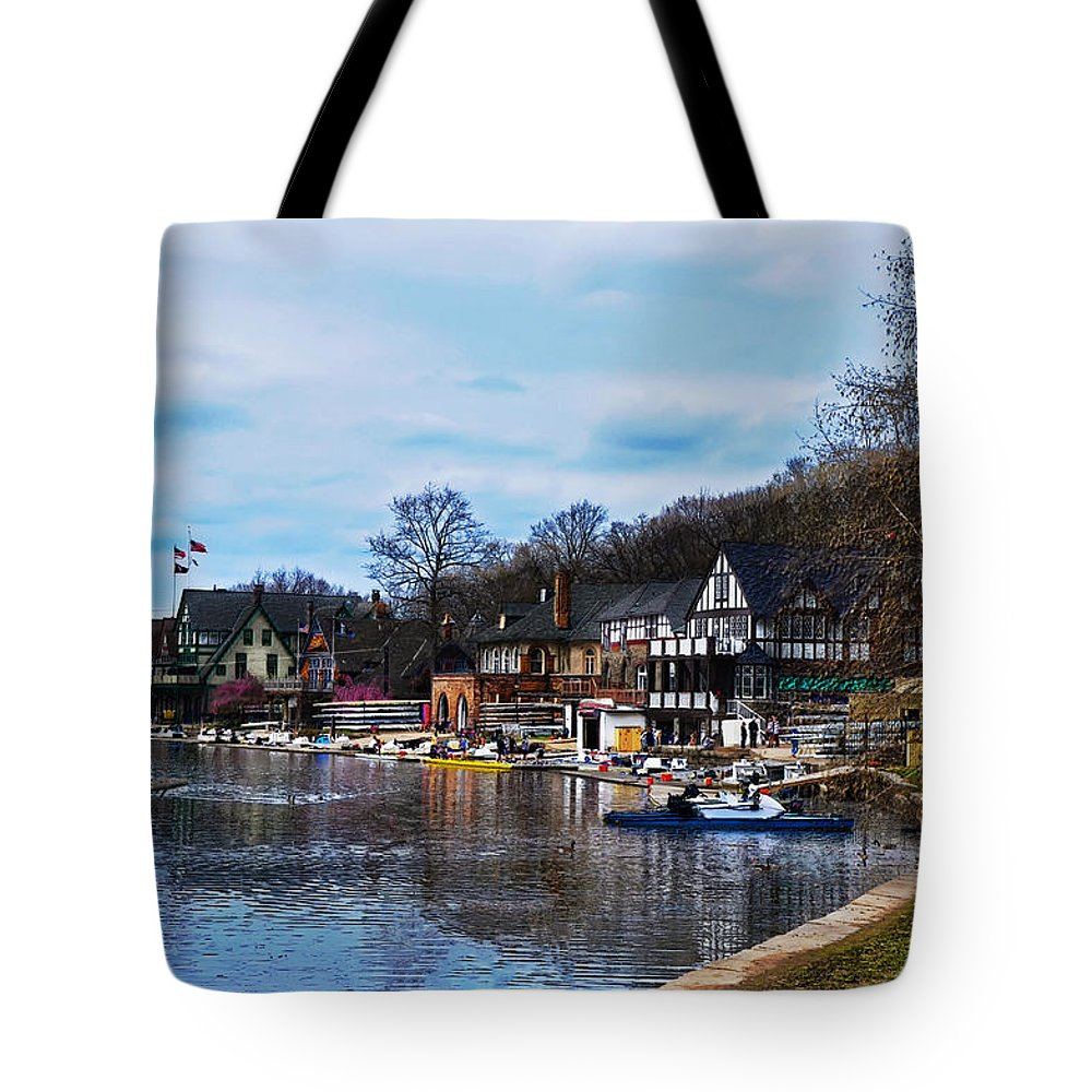 Philadelphia Tote Bag featuring the photograph The Boat House Row by Bill Cannon