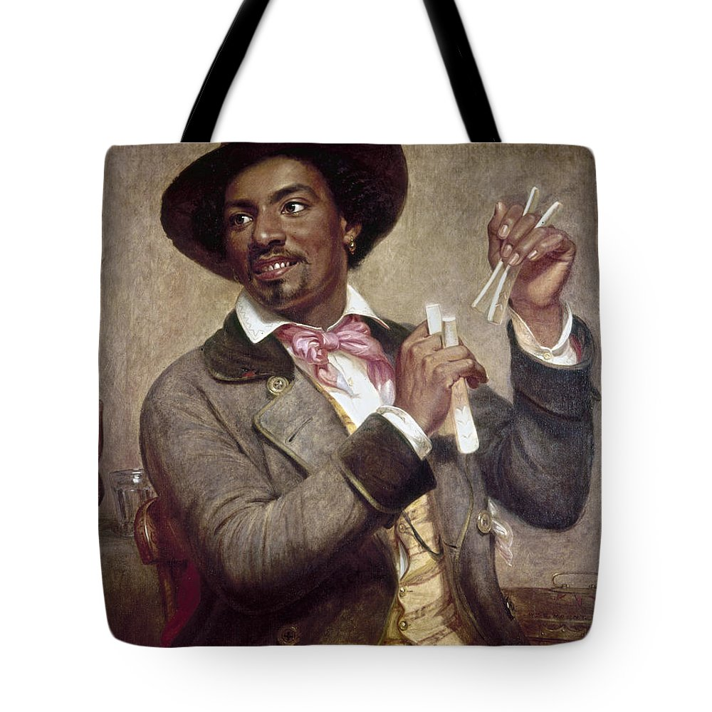 1856 Tote Bag featuring the photograph The Bone Player, 1856 by Granger