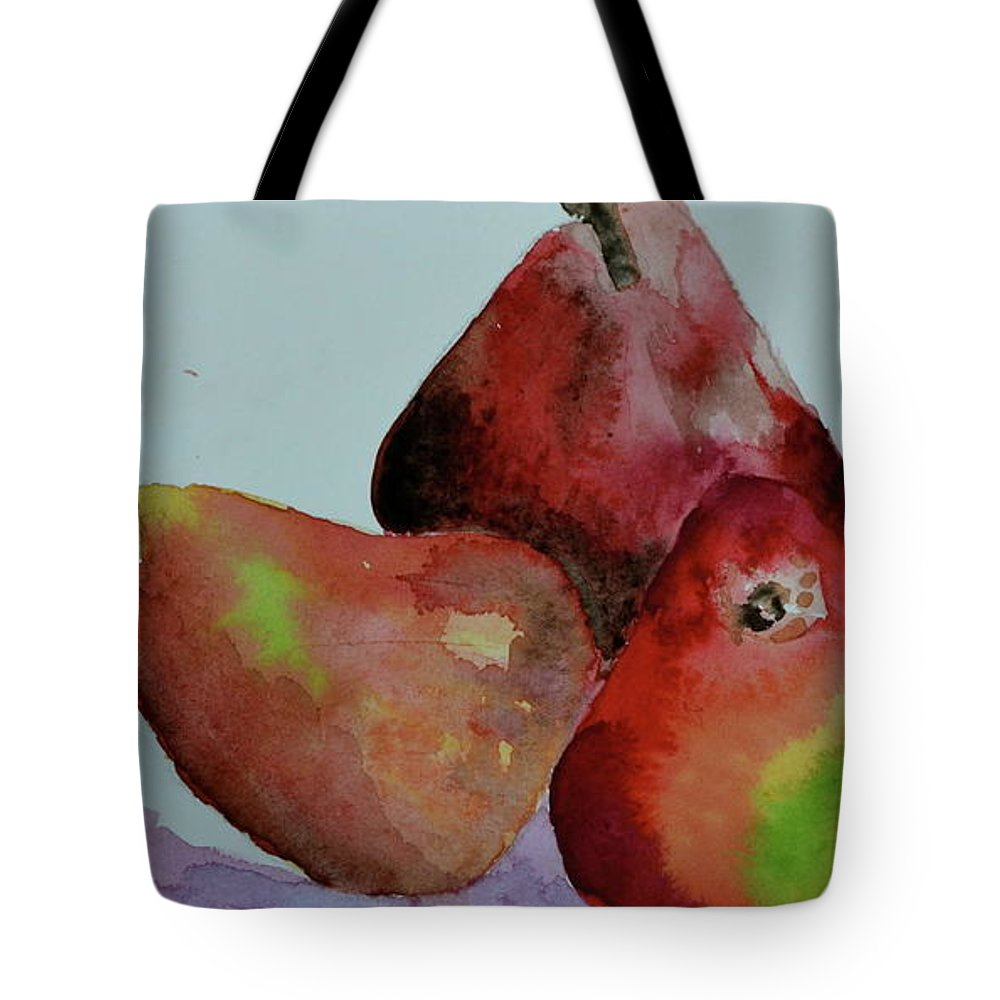 Pear Tote Bag featuring the painting The Boys by Beverley Harper Tinsley
