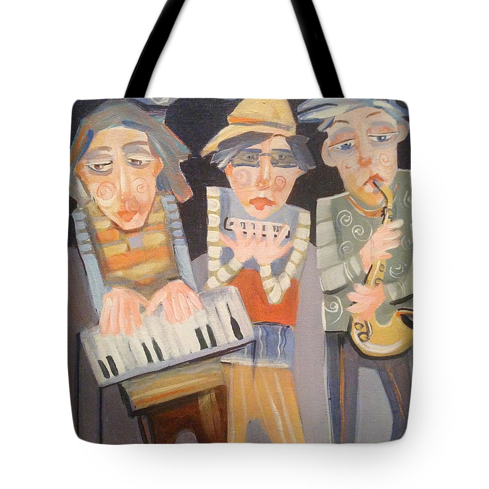 Boys Tote Bag featuring the painting The Boys In The Band by Shane Guinn