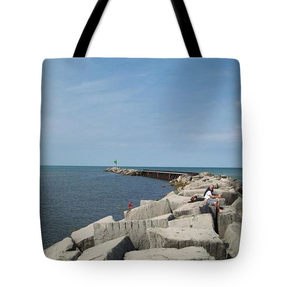 Tmad Tote Bag featuring the photograph The Break by Michael TMAD Finney