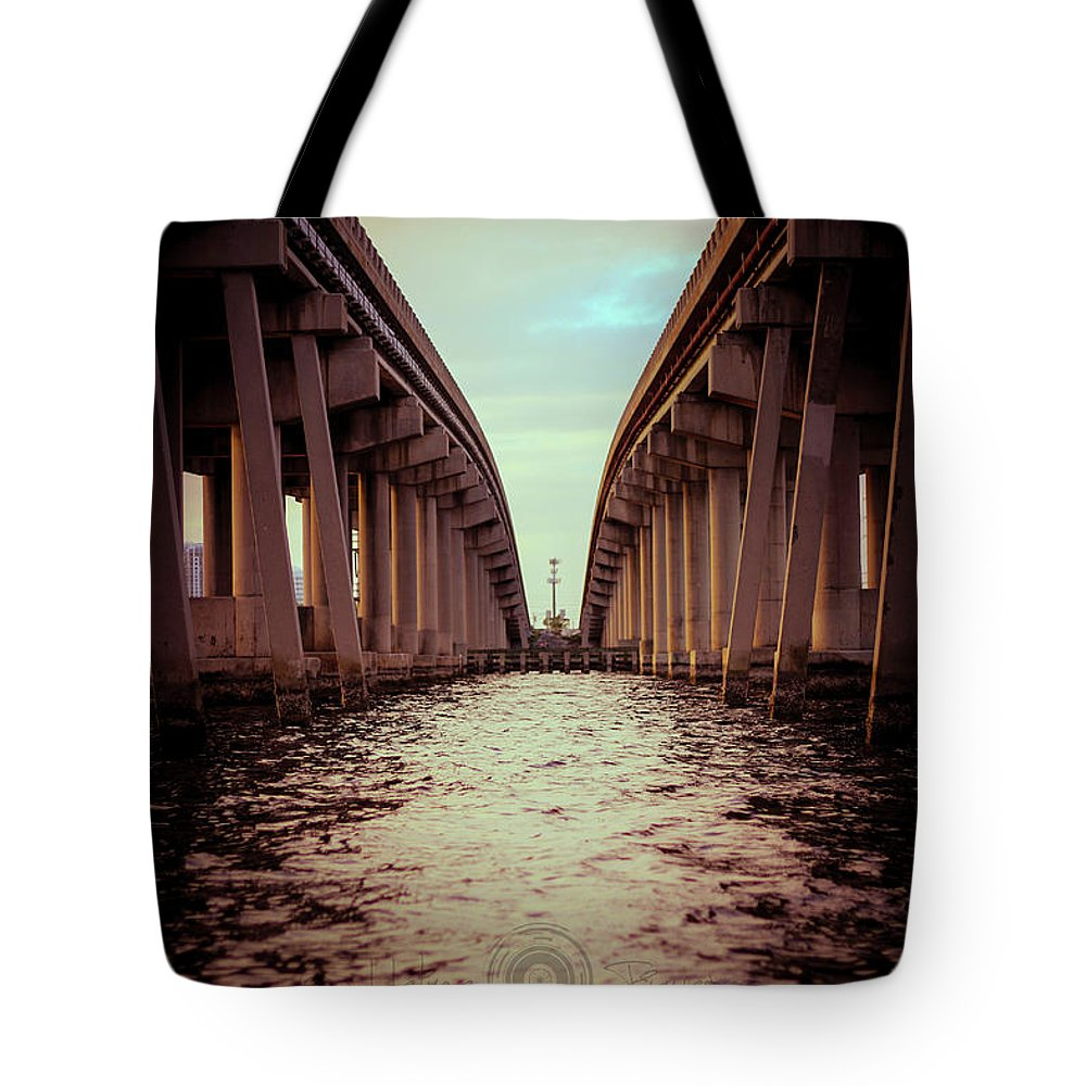 Photography Tote Bag featuring the photograph The Bridge by Gaddeline Figueroa