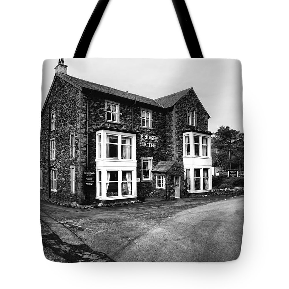 Bridge Hotel Buttermere Tote Bag featuring the photograph The Bridge Hotel, Buttermere by Smart Aviation