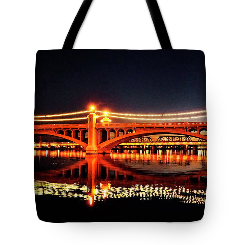 Arizona Tote Bag featuring the photograph The Bridge by Saija Lehtonen