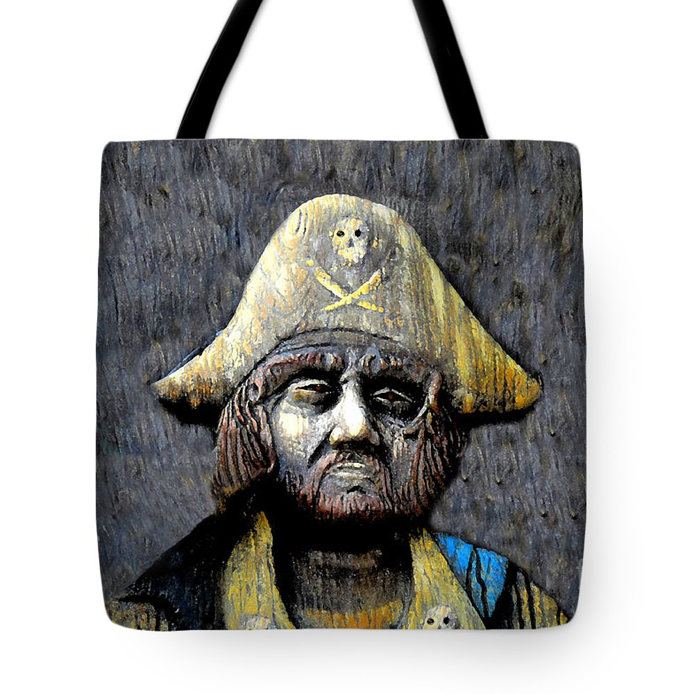 Buccaneer Tote Bag featuring the painting The Buccaneer by David Lee Thompson