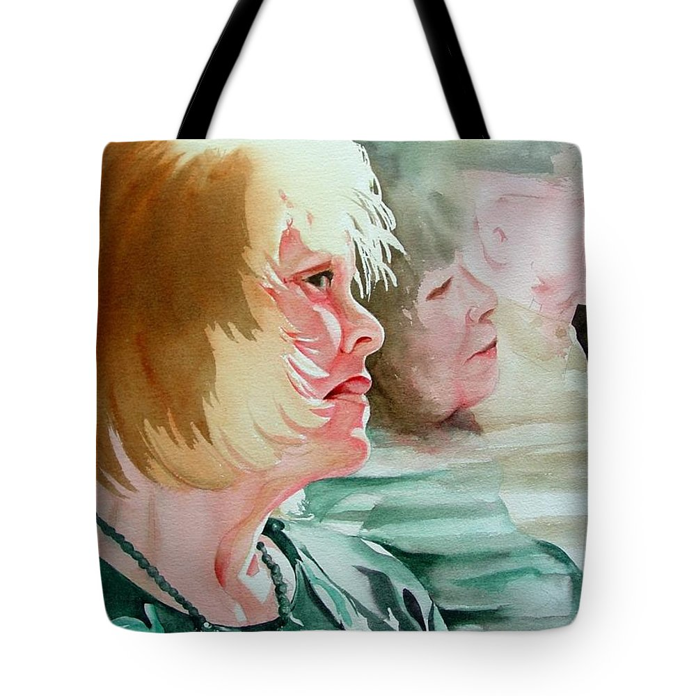 Person Tote Bag featuring the painting The Bus Ride by Marlene Gremillion