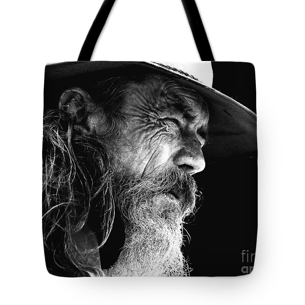 Australian Bushman Hat Tote Bag featuring the photograph The Bushman by Sheila Smart Fine Art Photography