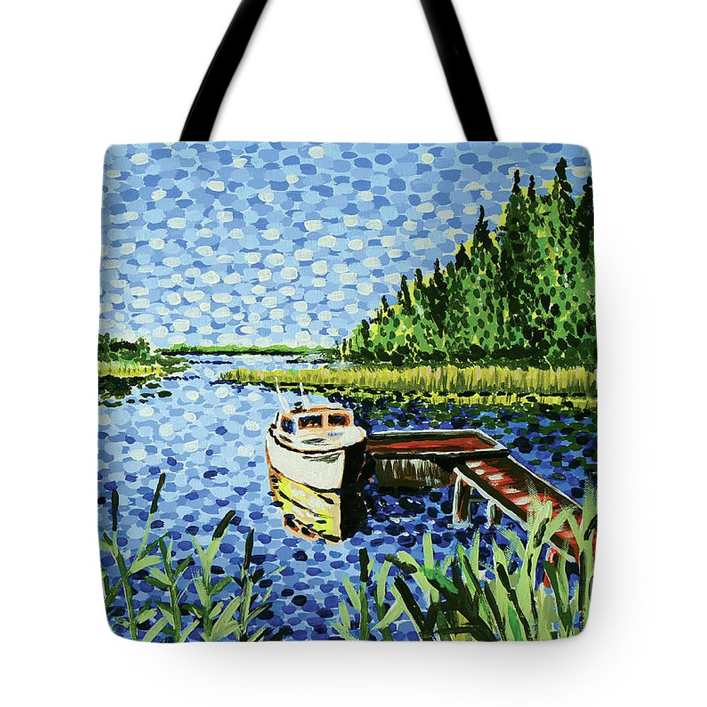 Hogan Tote Bag featuring the painting The Calypso by Alan Hogan
