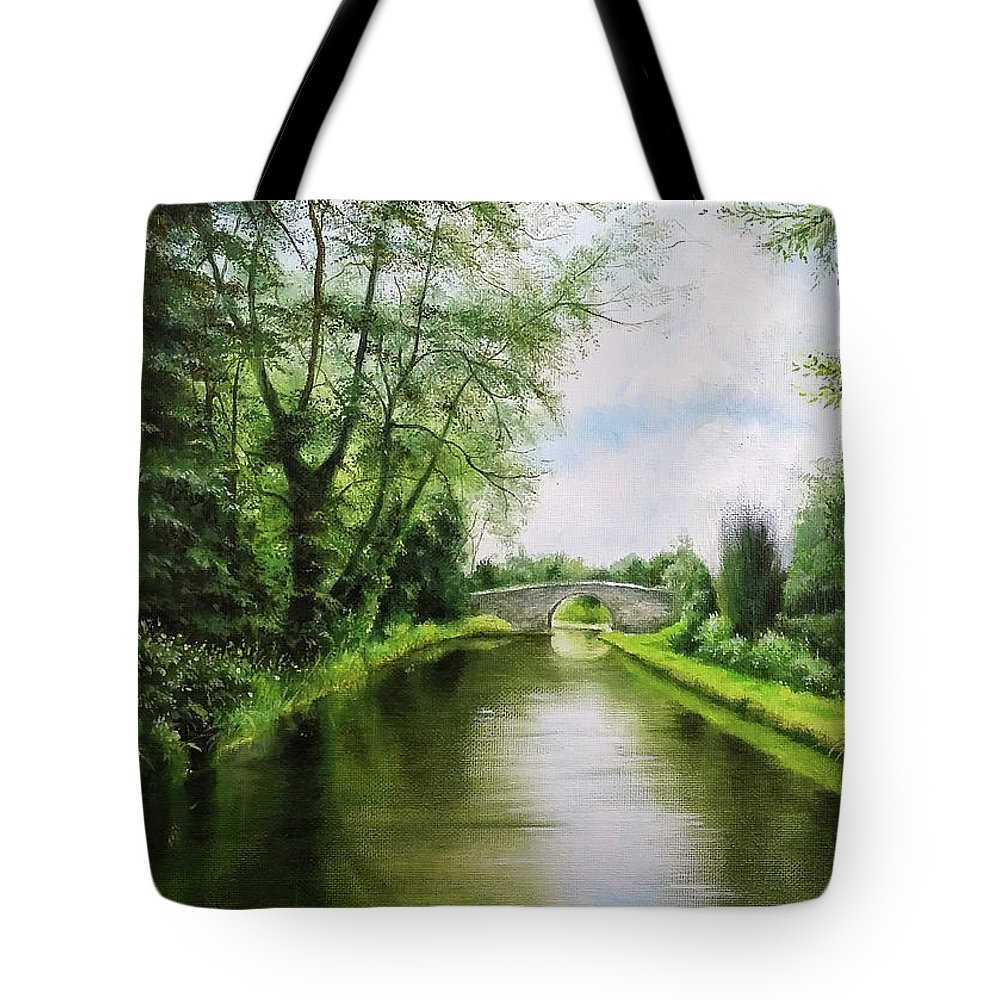 Canal Tote Bag featuring the painting The Canal by Sean Afford