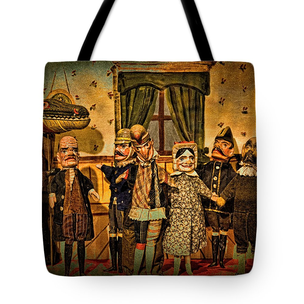 Puppets Tote Bag featuring the photograph The Cast Takes A Bow by Chris Lord
