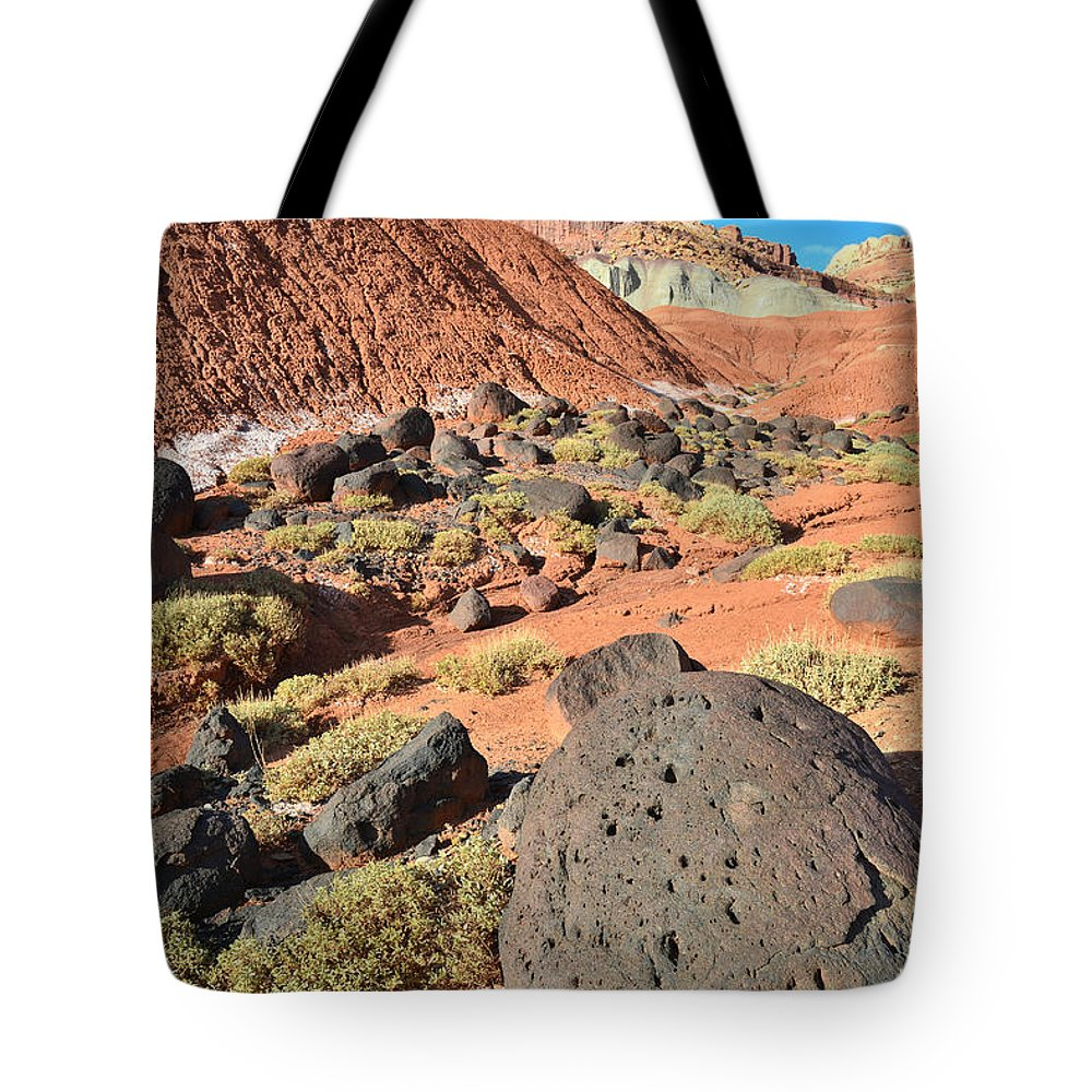 Capitol Reef National Park Tote Bag featuring the photograph The Castle II by Ray Mathis