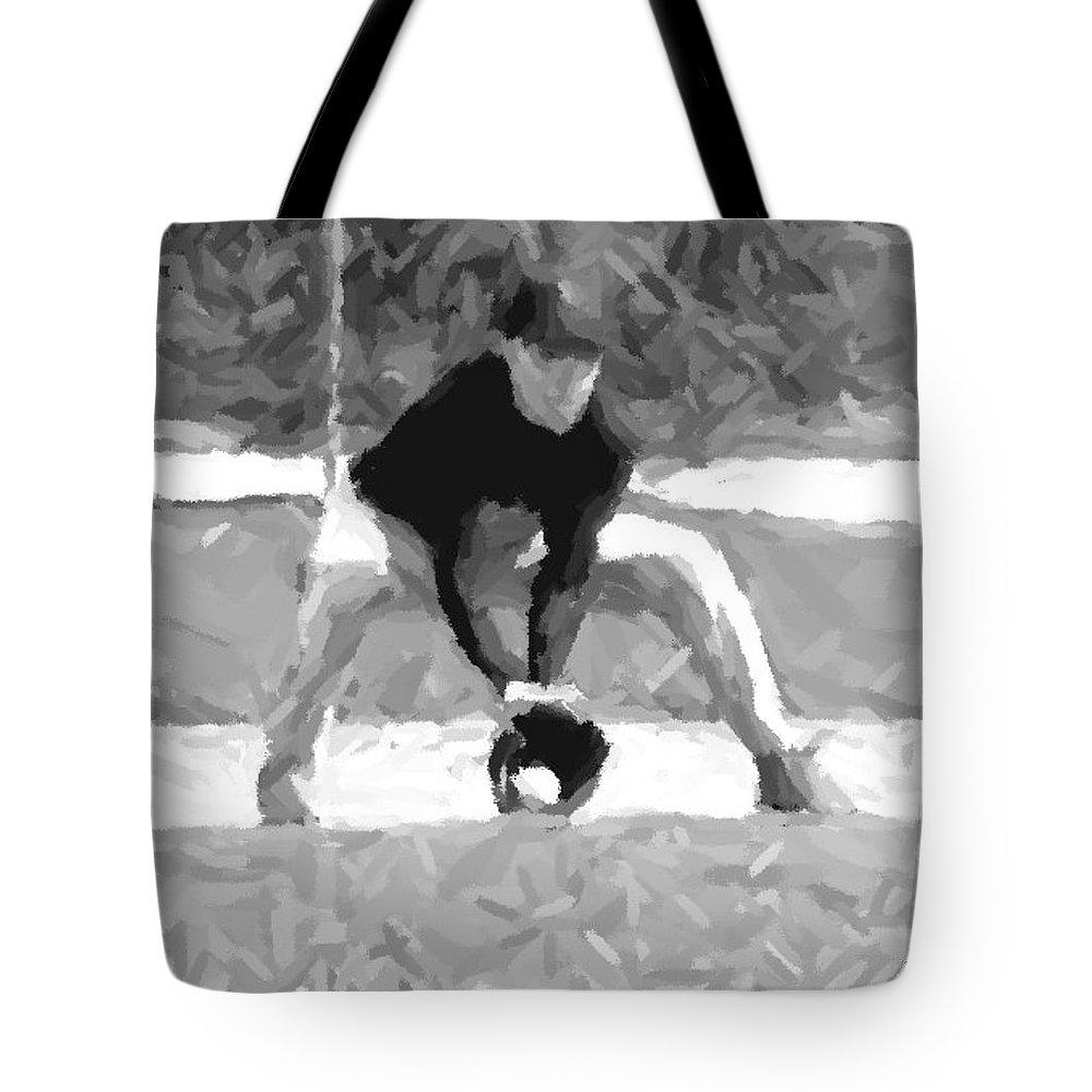 Digital Tote Bag featuring the digital art The Catch II by Maria Watt
