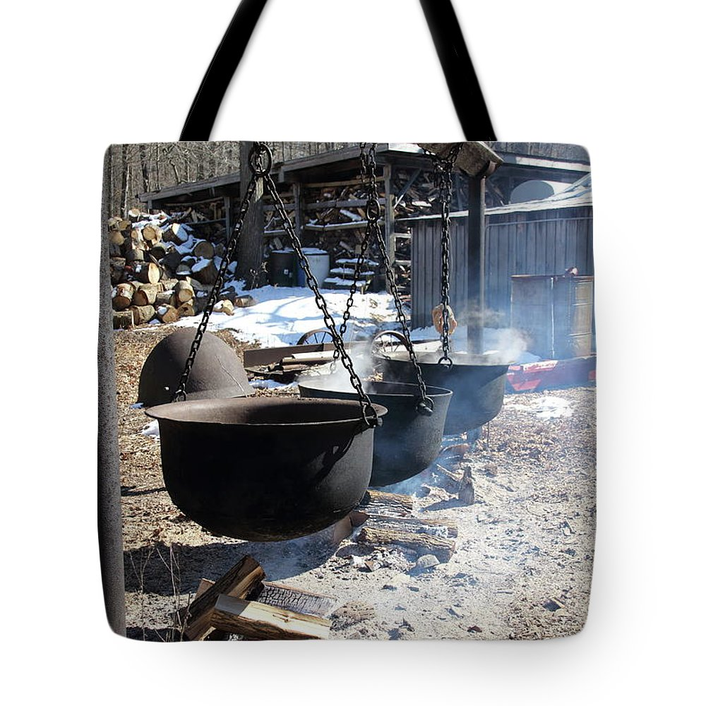 Sugar Bush Tote Bag featuring the photograph The Cauldrons by Stacey Scott