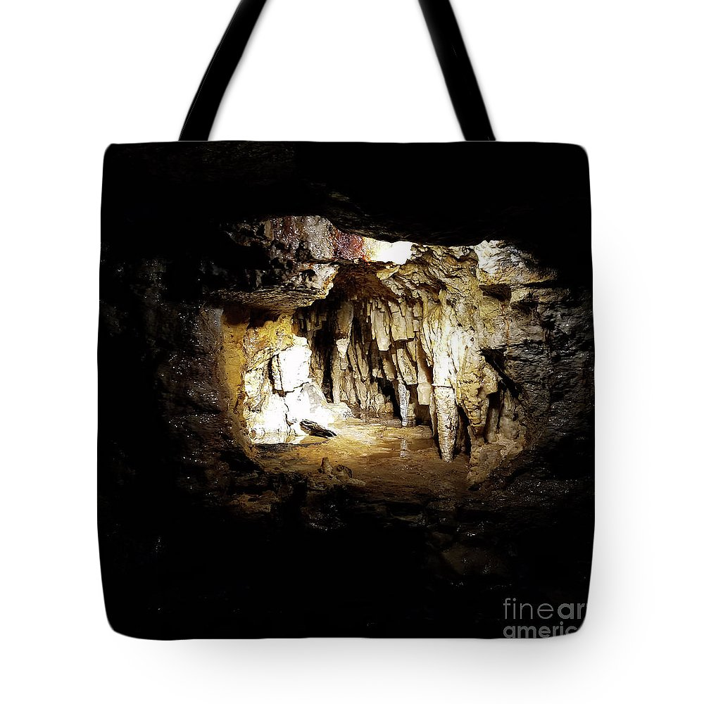 Cave Tote Bag featuring the photograph The Cave by Dyana Rzentkowski