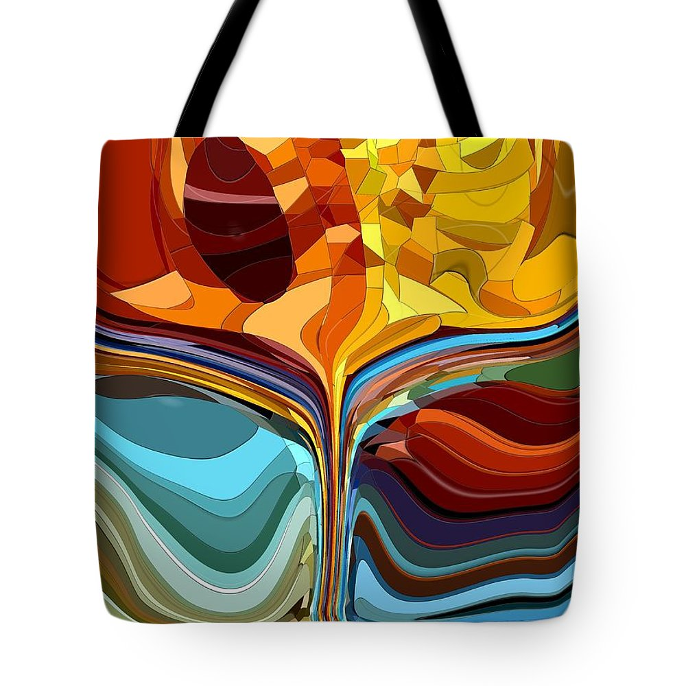 Abstract Tote Bag featuring the digital art The Chalice II by Tim Allen