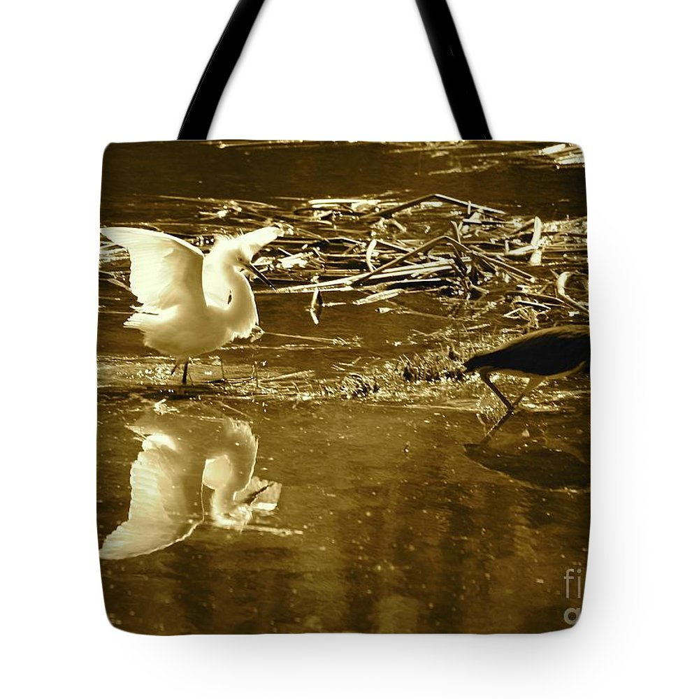 Bird Tote Bag featuring the photograph The Chase by Carol Groenen