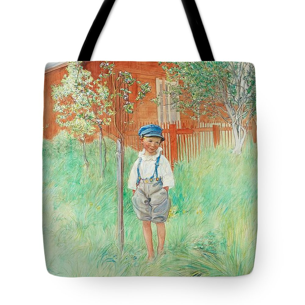 Carl Larsson Tote Bag featuring the painting The Child by Celestial Images