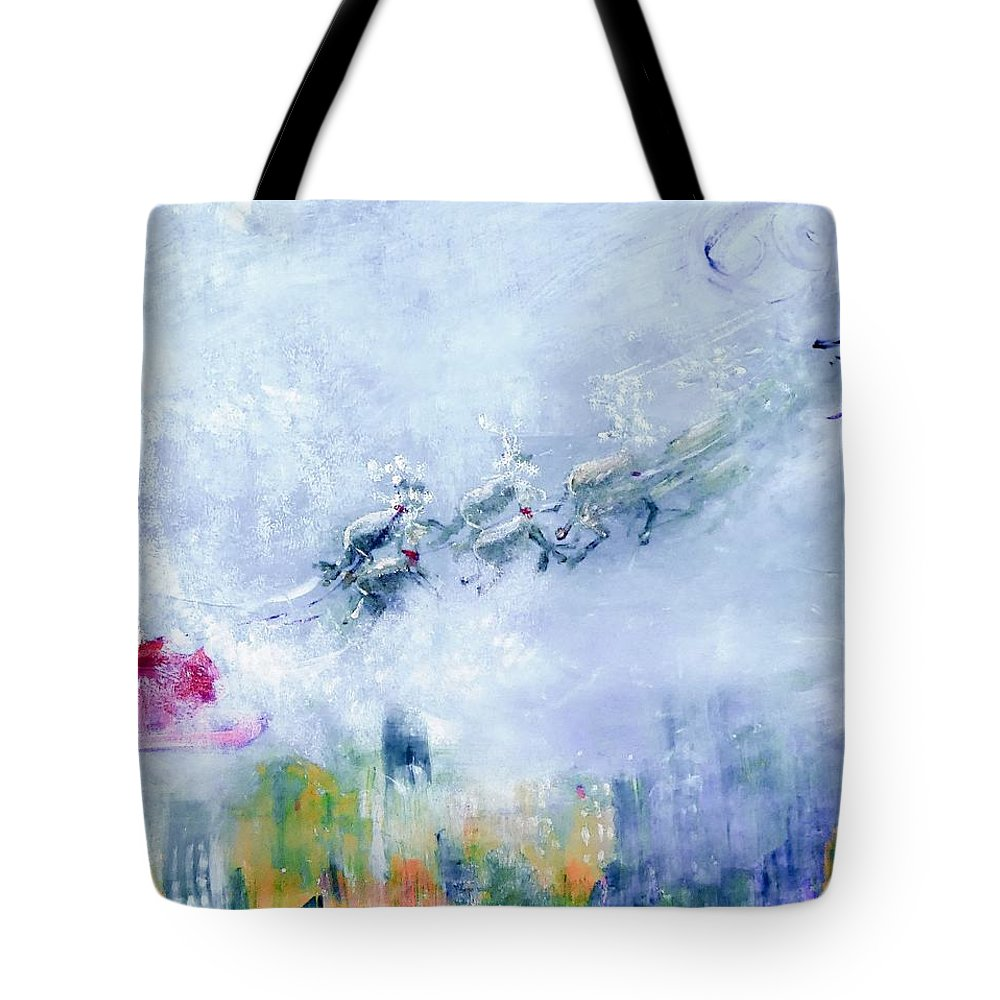 Christmas Tote Bag featuring the digital art The Christmas Wrapping By Lisa Kaiser by Lisa Kaiser
