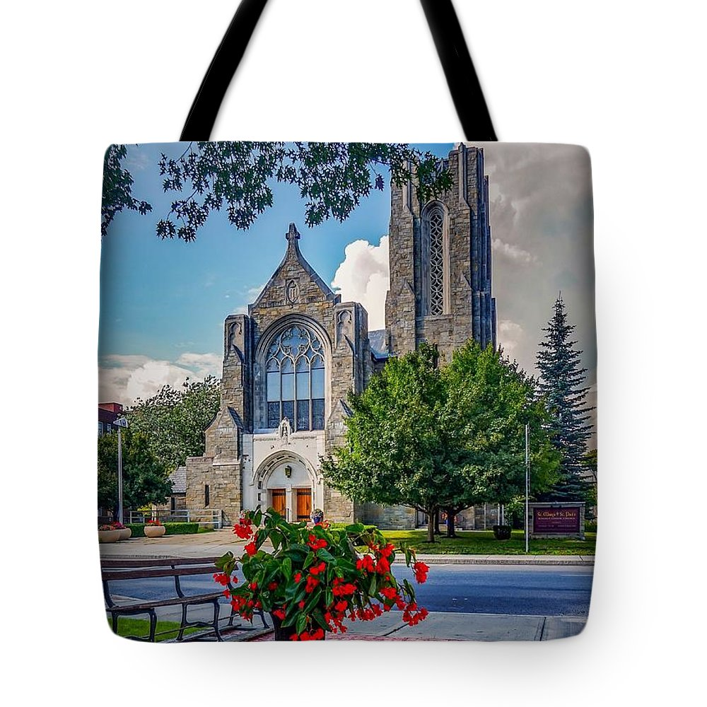 Tote Bag featuring the photograph The church in summer by Kendall McKernon