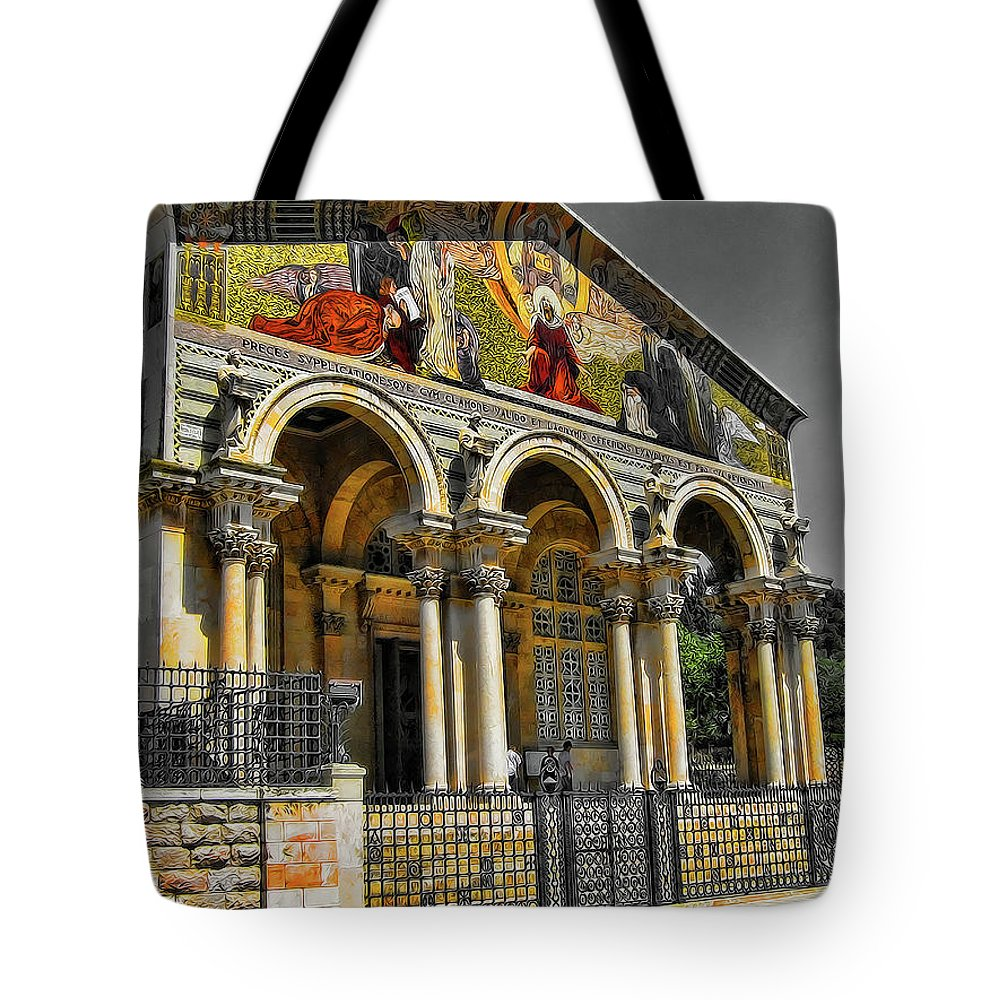 The Church Of All Nations Tote Bag featuring the photograph The Church Of All Nations by Douglas Barnard