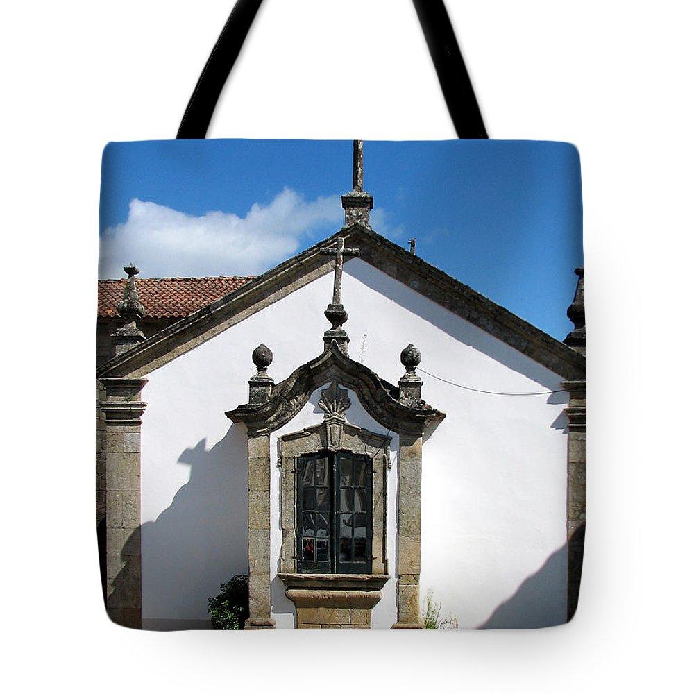 Church Of Santa Maria Tote Bag featuring the photograph The Church Of Santa Maria In Vigo Spain by Carla Parris