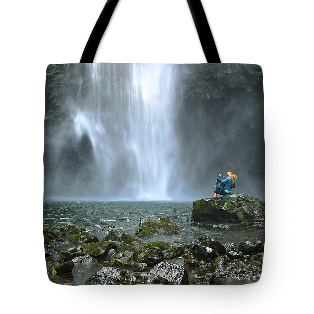 Hawaii Tote Bag featuring the photograph the Chute by RJ Bridges