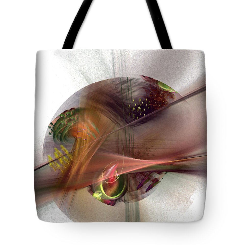 Abstract Tote Bag featuring the digital art The Circle Sea by NirvanaBlues